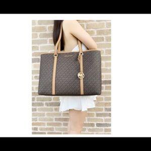 Michael Kors Bags - Michael Kors LG Sady Tote Bag Brown with Wallet